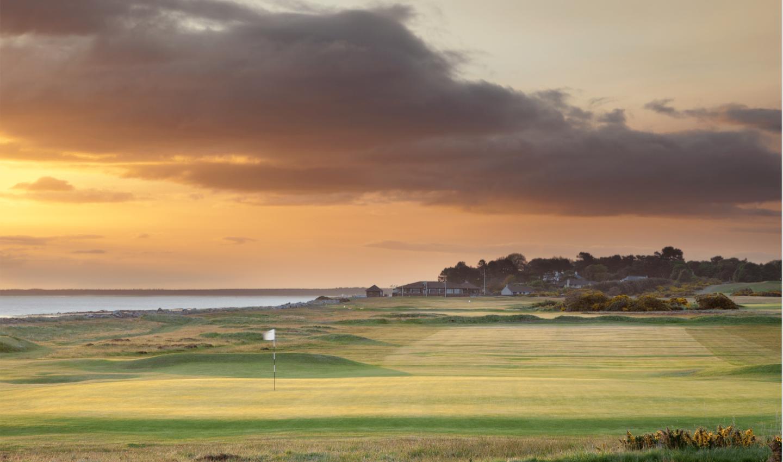 Nairn golf club at sunset