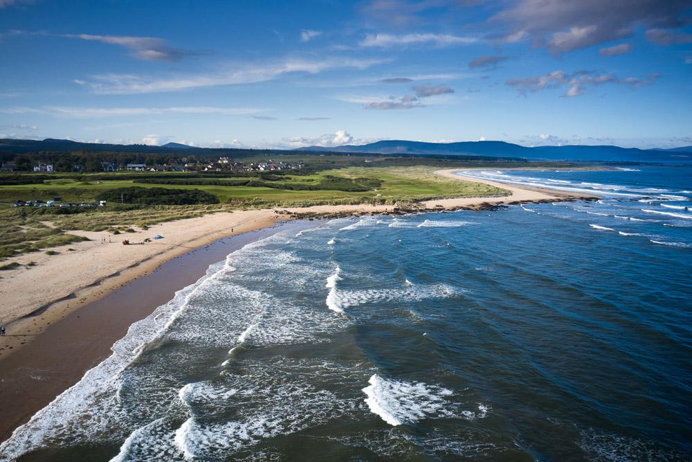 Aerial view of Dornoch Beach