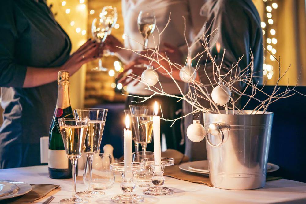 Table set up for a festive celebration