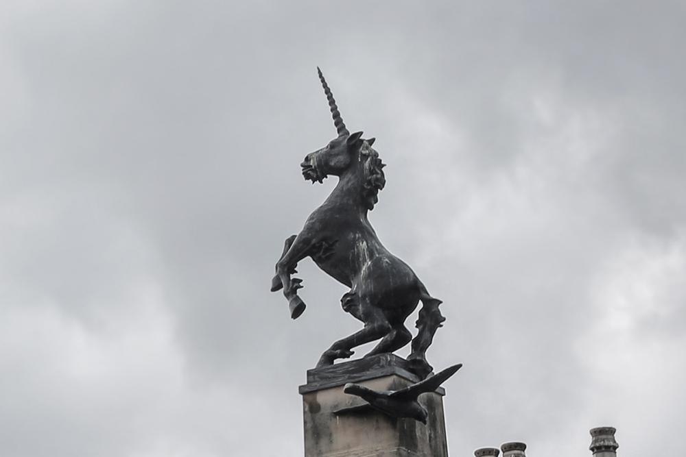 Unicorn statue in the Scottish city Inverness