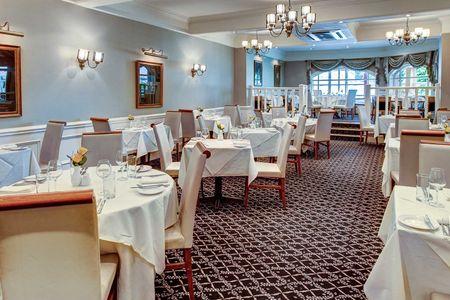 The Inglis restaurant at Kingsmills Hotel set up for dining