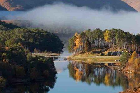 An Autumn scene in Glen Affric