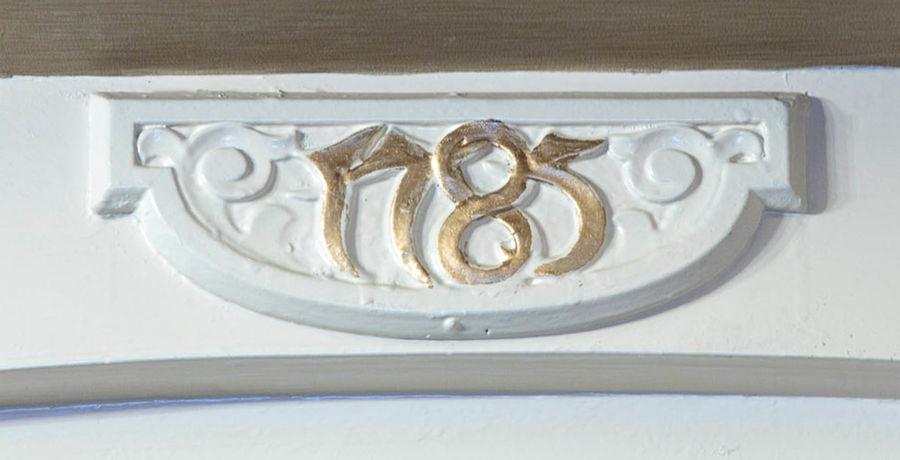 A motif saying 1785 in Kingsmills Hotel