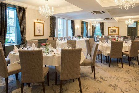 Tables set for dining at Kingsmills Hotel
