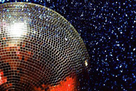 A glitter ball