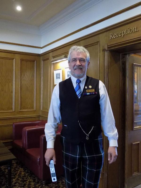 A very happy Kingsmills Hotel employee