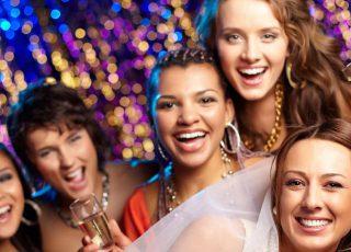 Some women enjoying a hen party