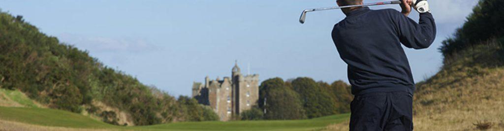 Golfer on Castle Stuart course