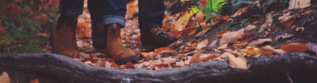 Couple walking in Autumn