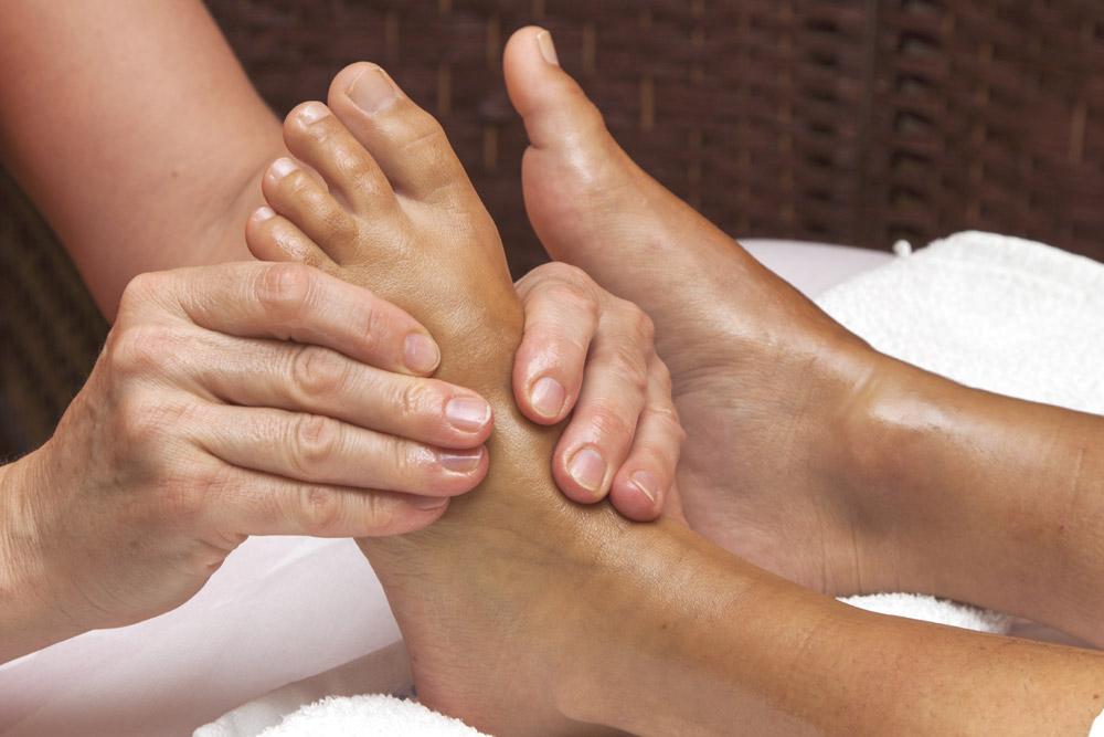 Woman having a foot massage