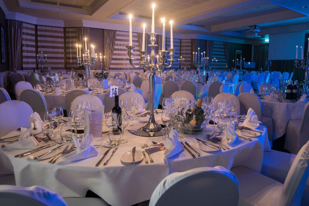 Kinsmills Suite set up for a banquet