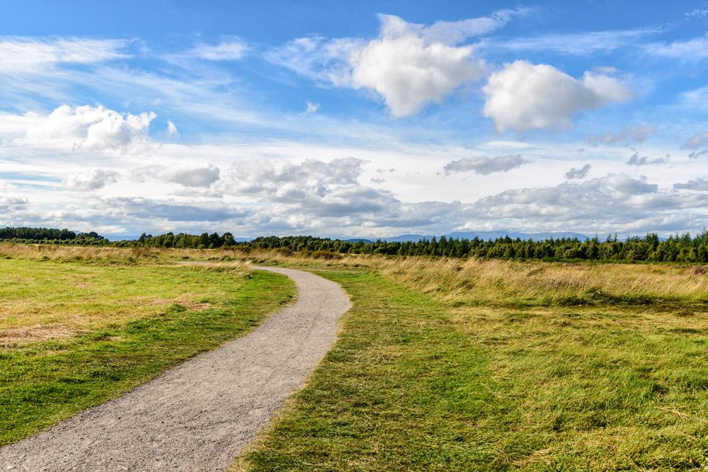 Path through Culloden Battlefield near Inverness