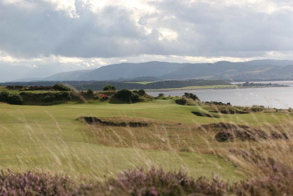 The 17th hole at Castle Stuart Golf Links