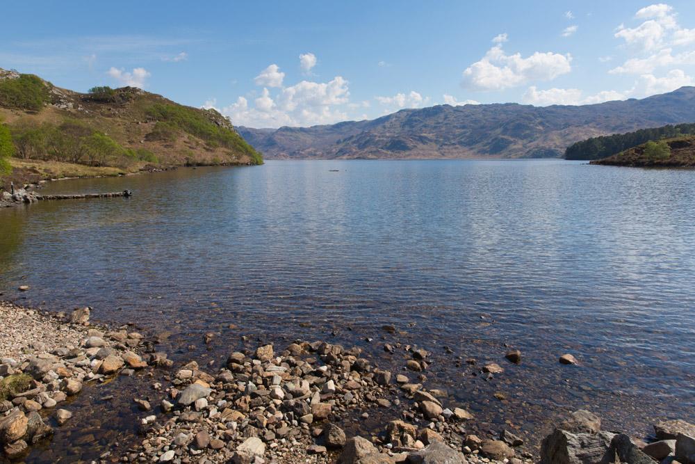 View of Loch Morar in the Scottish Highlands