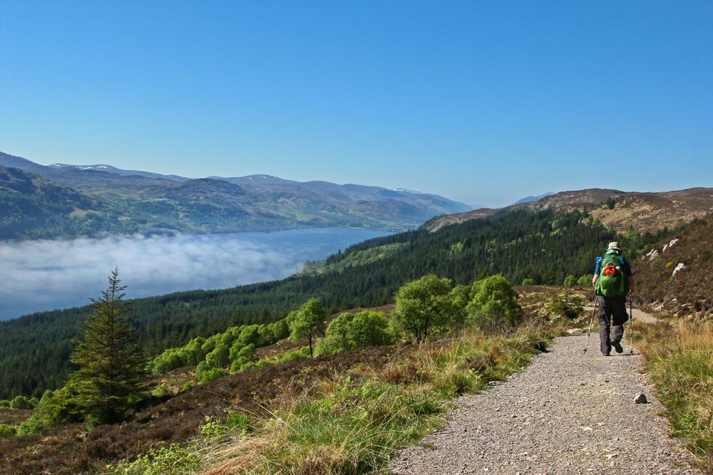 Hiker on the Great Glen Way