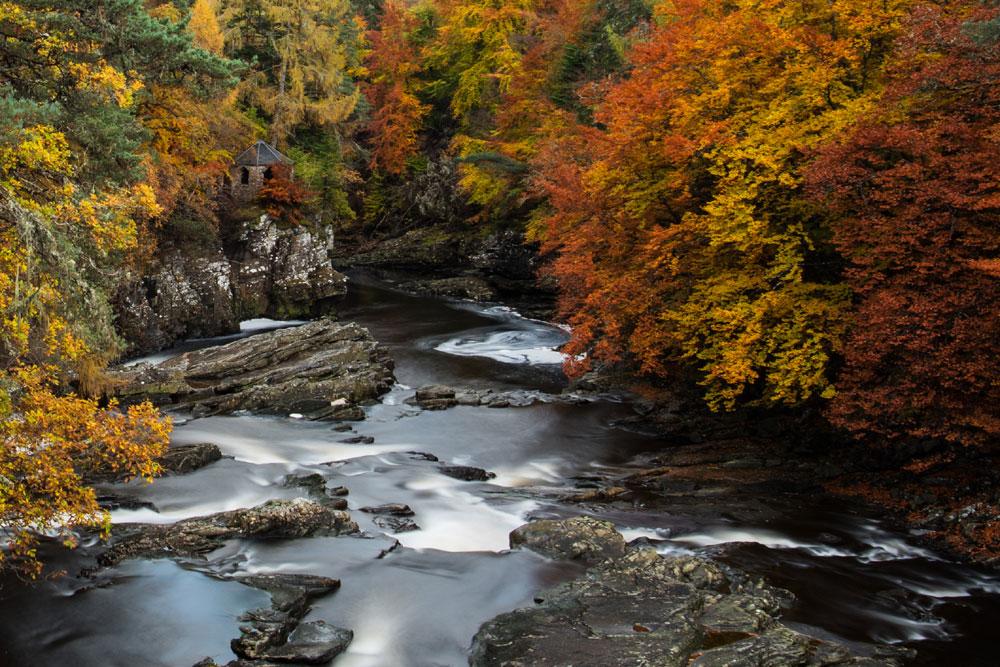 Autumn colours at Invermoriston near Loch Ness