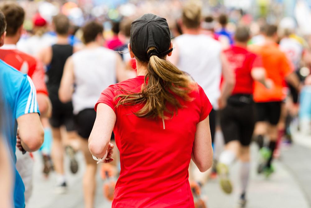 Running crowd at the marathon